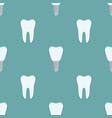 seamless pattern of tooth implant prothesis vector image
