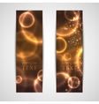 set of abstract glowing banners vector image