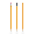 Three pencils vector image