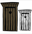 Wood toilet house vector image