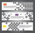 Cross pattern web banners vector image
