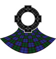 scottish celtic ring vector image