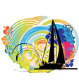 Sailing luxury yacht vector image vector image