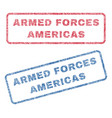 armed forces americas textile stamps vector image