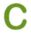 Four Leaf Clover of Alphabet Letter C vector image