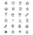 Halloween Line Icons 2 vector image