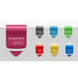 set with seven tags vector image vector image