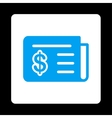 Financial News Icon from Commerce Buttons vector image