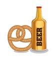 beer and pretzels food tradicional oktoberfest vector image