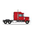 big semi truck flat trendy vector image