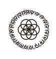 feminine symbol flower of vector image