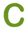 Four Leaf Clover of Alphabet Letter C vector image