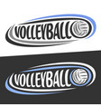 logos for volleyball sport vector image