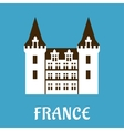 Renaissance castle with turrets France vector image
