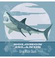Solomon islands Great white shark Retro styled vector image