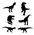 tyrannosaurusSet vector image