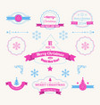 winter holidays greeting labels set vector image