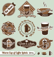 Cup of Coffee Labels vector image vector image