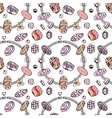 Seamless jewellery pattern with bracelets with vector image vector image