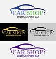 Car Showroom Logo vector image