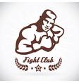 Boxer Fitness Model vector image