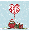 christmas owls vector image