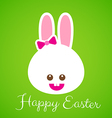 Happy easter smile rabbit bunny cartoon 001 vector image