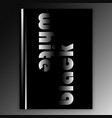 black and white interior poster vector image