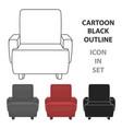 cinema armchair icon in cartoon style isolated on vector image