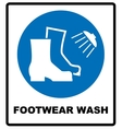 Footwear wash sign vector image