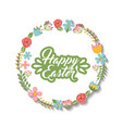 happy easter season card vector image