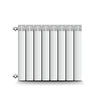 Heating radiator isolated on white vector image