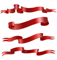 red scrolls vector image