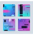 Set invitations effect glitch vector image