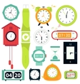 set Types of alarms clocks vector image