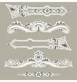 Set vintage elements ornaments vector image