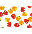 sweet pepper seamless pattern on white vector image