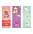 valentine greeting cards design vector image