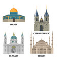 israel hungary turkey and czech republic travel vector image
