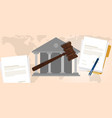 Constitutional law verdict case legal gavel wooden vector image