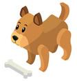 3d design for little puppy vector image