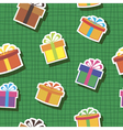 Seamless background with gift box vector image