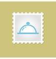 Restaurant Cloche stamp vector image
