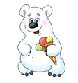 bear and icecream vector image