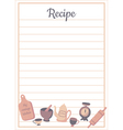 recipe card vert vector image
