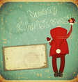 Santa Claus writes greetings vector image