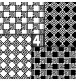 Abstract ZigZag Black White Seamless Pattern Set vector image