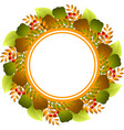 autumnal round frame vector image