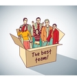Best business team group people in box vector image
