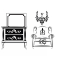 Classic wall frames and furniture vector image